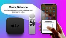 Cách điều chỉnh tính năng cân bằng màu sắc Apple TV trên iPhone