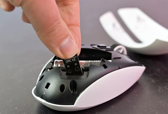 Thiết bị bảo vệ độ trễ thấp được đặt bên trong chuột.