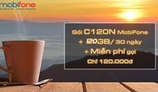 Cách đăng ký gói C120N Mobifone nhận 120GB/tháng