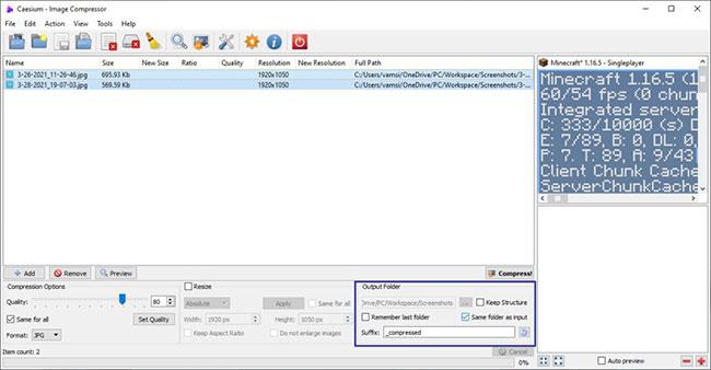 Cách giảm dung lượng file JPG trong Windows 10