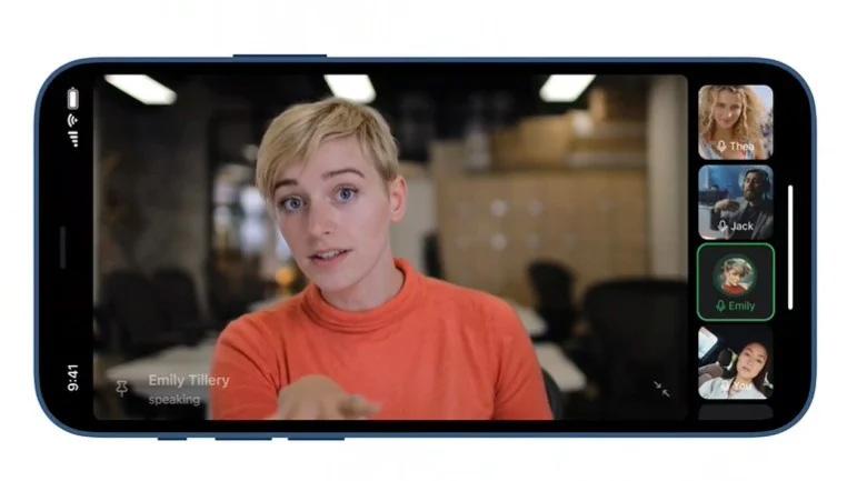 Ảnh chụp màn hình tính năng gọi video nhóm trên Telegram.