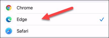 Cách đặt Microsoft Edge làm trình duyệt mặc định trên iPhone hoặc iPad
