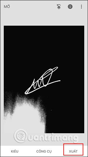Xuất chữ ký