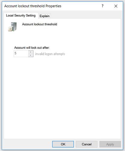 Cách giới hạn số lần đăng nhập không thành công trên Windows 10