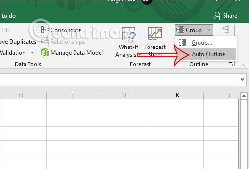 Cách sử dụng tính năng Outline trong Excel - Ảnh minh hoạ 3