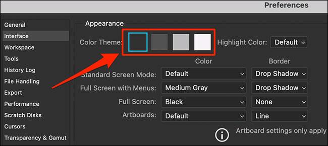 Chọn ô vuông có màu tương ứng với màu chủ đề mà bạn muốn áp dụng