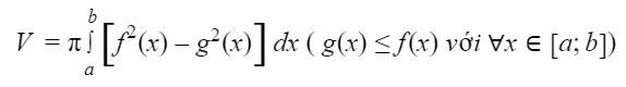 Công thức tính thể tích khối tròn xoay