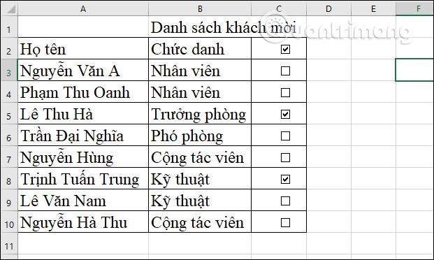Cách chèn checkbox trong Excel - Ảnh minh hoạ 4