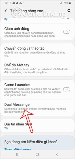 Tính năng Dual Messenger