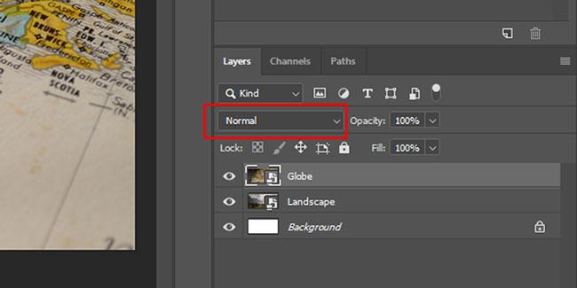 Chọn blend mode mà bạn muốn sử dụng