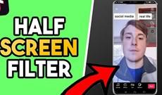 Cách quay video filter một nửa ảo diệu trên TikTok