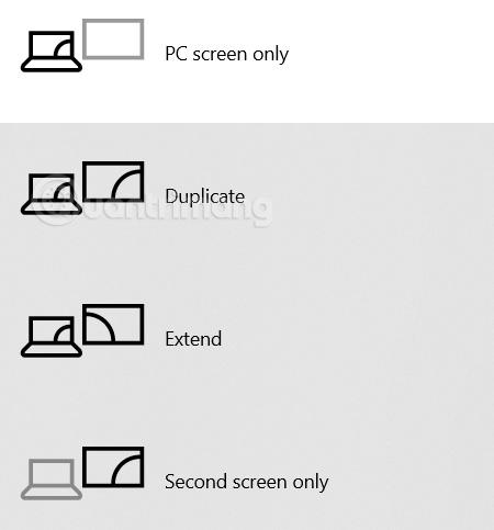 Các chế độ hiển thị màn hình laptop lên máy chiếu