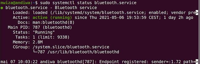 Bật service Bluetooth