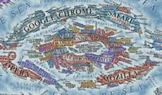 Nếu coi Internet là hành tinh thì đây là bản đồ của nó với mỗi trang web được thể hiện dưới dạng một quốc gia