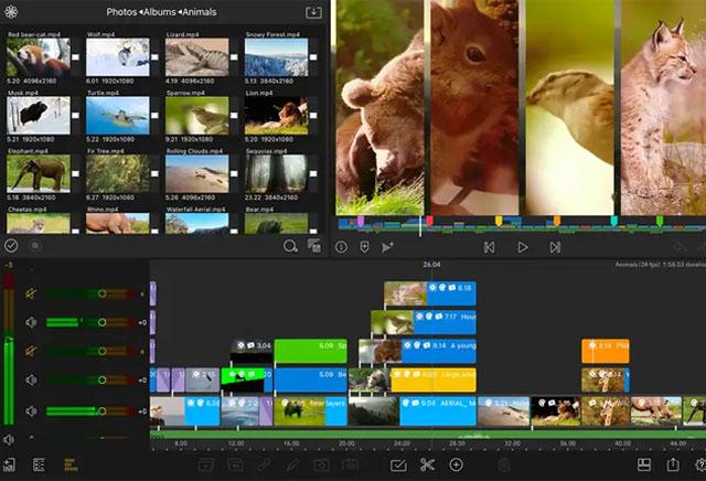 Giao diện ứng dụng chỉnh sửa video LumaFashion.