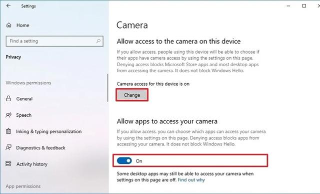 Cài đặt bảo mật Windows 10 có thể gây ra sự cố