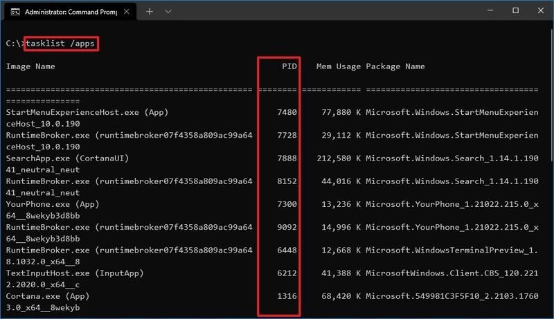 Cách tìm Process ID ứng dụng trên Windows 10