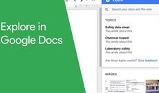 Cách sử dụng tính năng Explore trong Google Docs