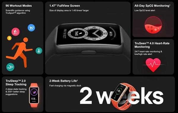 Các tính năng Huawei Band 6