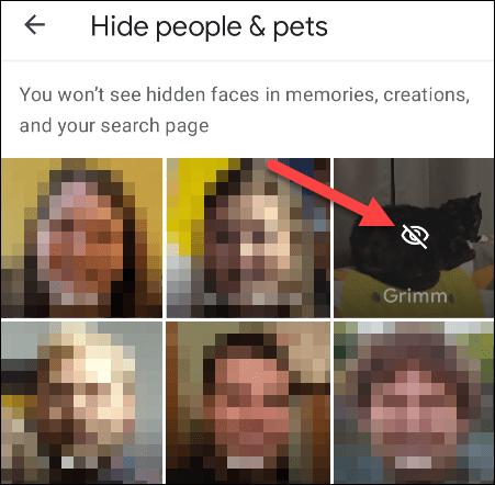 """Chọn """"khuôn mặt"""" mà bạn muốn ẩn khỏi Memories"""