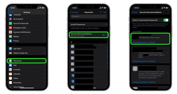 Cách kiểm tra mật khẩu của iCloud Keychain