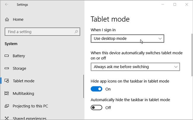 Chỉ sử dụng Desktop Mode