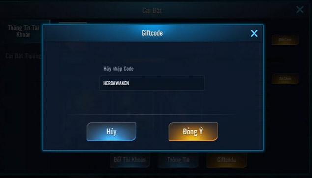 mã heroawaken mới