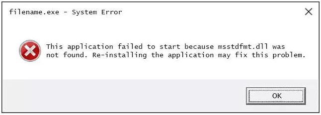Cách sửa lỗi Msstdfmt.dll Not Found