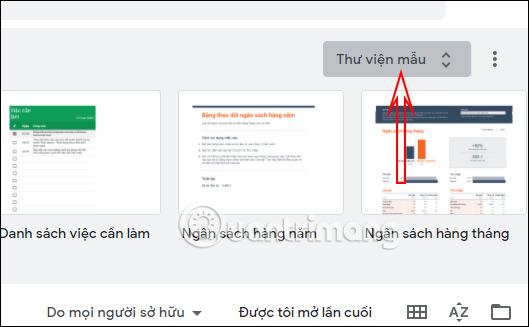Cách chèn Template vào Google Sheets