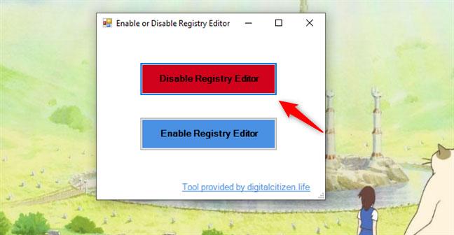 Vô hiệu hóa Registry Editor