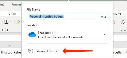 Cách xem và khôi phục phiên bản file Excel - Ảnh minh hoạ 2