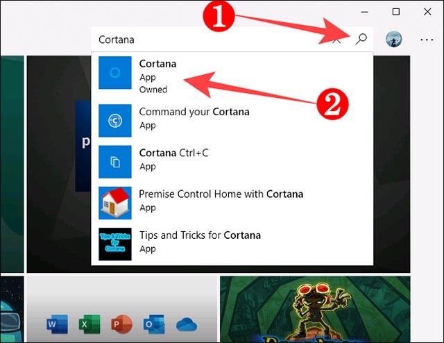 """Bấm chọn """"Cortana"""""""