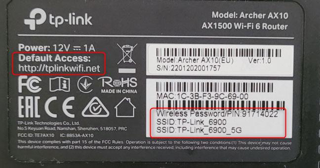 Xem chi tiết WiFi ở phía dưới router TP-Link của bạn