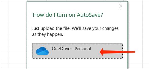 Cách tự động lưu file Excel vào OneDrive - Ảnh minh hoạ 4