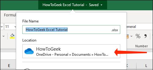 Cách tự động lưu file Excel vào OneDrive - Ảnh minh hoạ 7