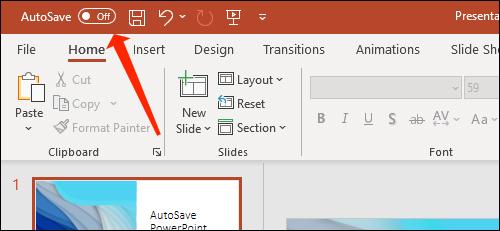Cách tự động lưu slide PowerPoint vào OneDrive