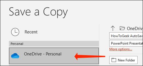 Cách tự động lưu slide PowerPoint vào OneDrive - Ảnh minh hoạ 4