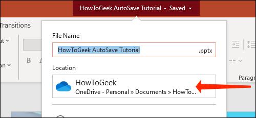 Cách tự động lưu slide PowerPoint vào OneDrive - Ảnh minh hoạ 7