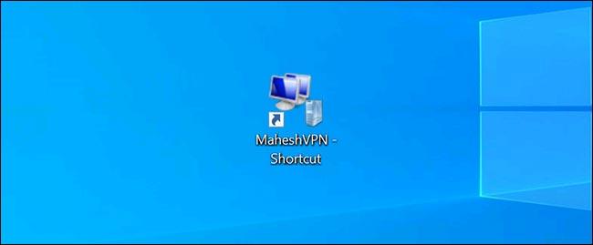 Shortcut VPN đã được tạo