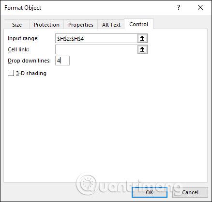 Cách tạo Combo Box trong Excel - Ảnh minh hoạ 5