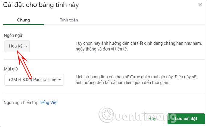 Cách đổi đơn vị tiền tệ mặc định Google Sheets - Ảnh minh hoạ 2