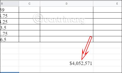 Cách đổi đơn vị tiền tệ mặc định Google Sheets - Ảnh minh hoạ 3