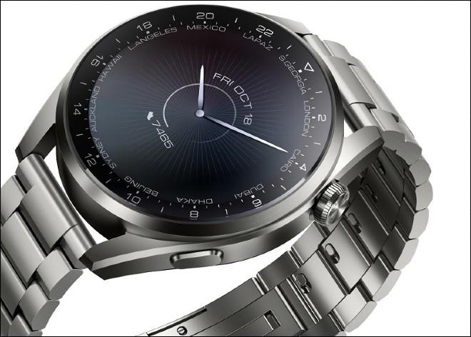 Riêng phiên bản Huawei Watch 3 Pro sẽ có các tùy chọn vật liệu cao cấp như gốm, titanium và kính sapphire