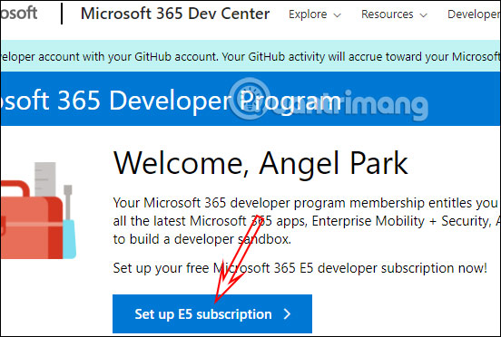 Tạo tài khoản Office 365