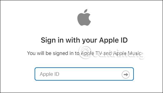 Nhập Apple ID