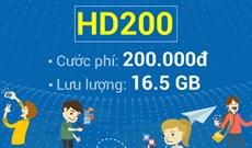 Cách đăng ký HD200 Mobifone nhận 16.5GB
