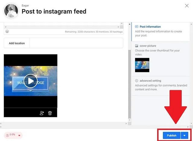 Cách đăng tải video từ PC lên Instagram - Ảnh minh hoạ 5