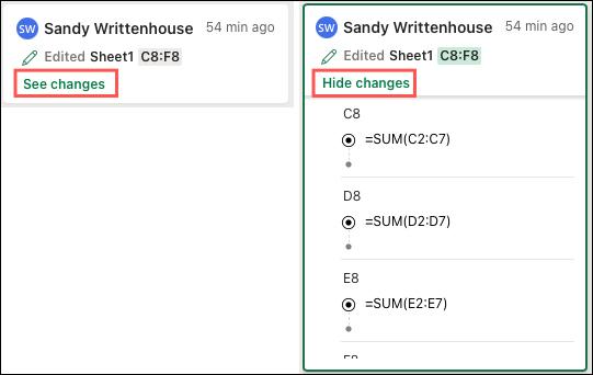 Cách xem nội dung thay đổi khi chia sẻ file Excel - Ảnh minh hoạ 3