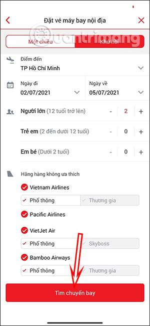 Cách đặt vé máy bay trên F@st Mobile
