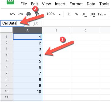 Cách đổi tên, đặt tên cho hàng hoặc cột trong Google Sheet
